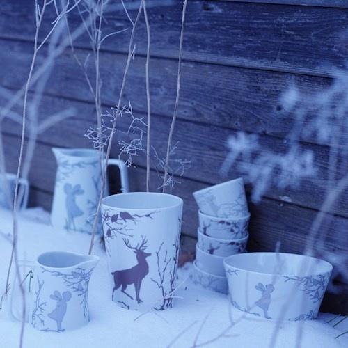 forest scene porcelain