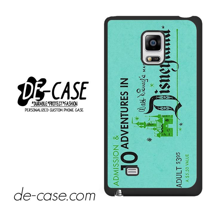 Disneyland Ticket DEAL-3461 Samsung Phonecase Cover For Samsung Galaxy Note Edge