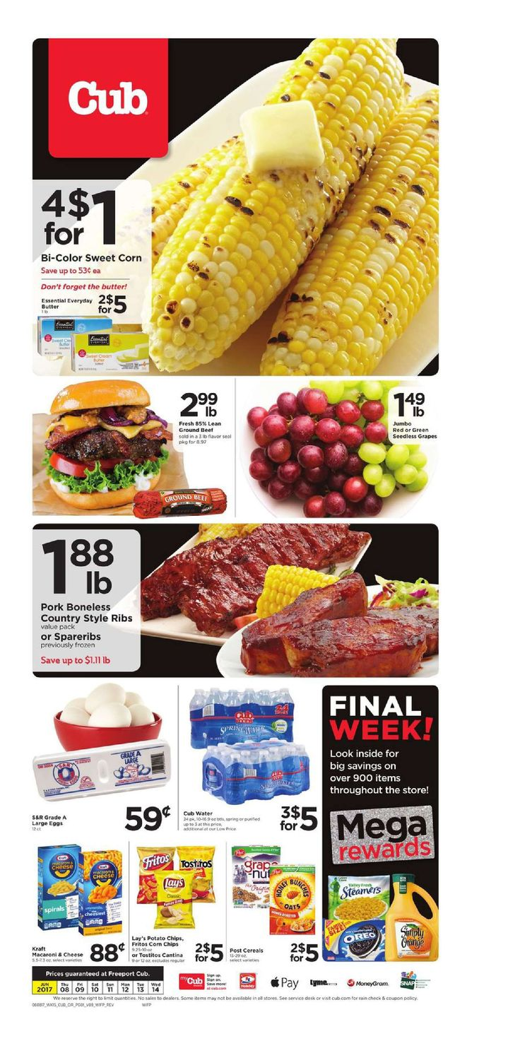 Cub Foods Weekly Ad June 8 - 14, 2017 - http://www.olcatalog.com/grocery/cub-foods-weekly-ad.html