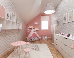 Ruda śląska - zabudowa szeregowa - Średni pokój dziecka dla dziewczynki dla…
