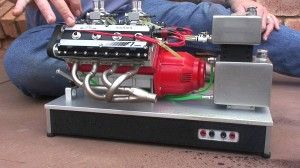 Cool Tiny V8 Nitro Engine (video) - http://www.carnewscafe.com/2014/09/07/cool-tiny-v8-nitro-engine-video/ This very cool little V8 Nitro engine is about the size of a shoebox, but it runs and operates like any other eight-cylinder combustion engine. Firing on nitromethane, the little engine was made by some Aussies who did a great job engineering this little powerhouse. http://youtu.be/NPNmI6D2T2c