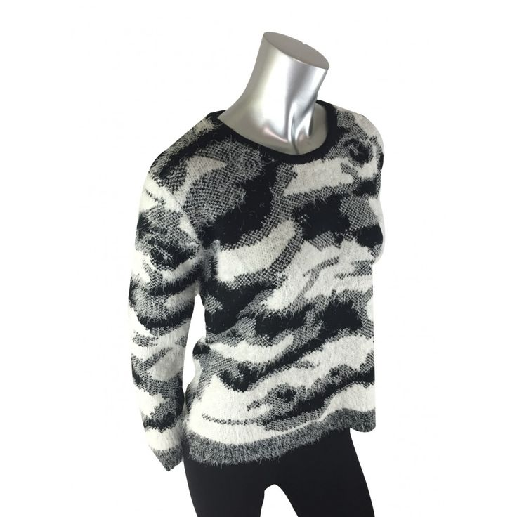 Filo Monochrome Fluffy Jumper