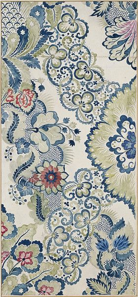 Garthwaite, Anna Maria | Watercolor, ca. 1730 - find tangley patterns here! Beautiful