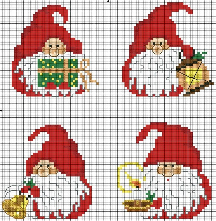 Tomte Christmas perler bead patterns
