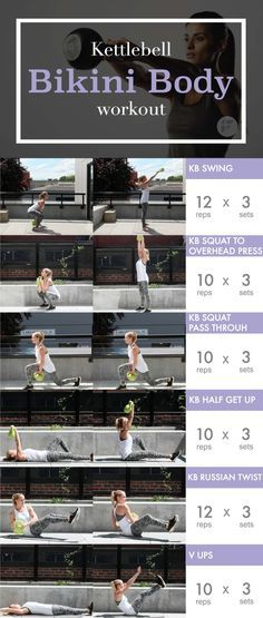 20-Minute Kettlebell Workout to Get a Bikini Body