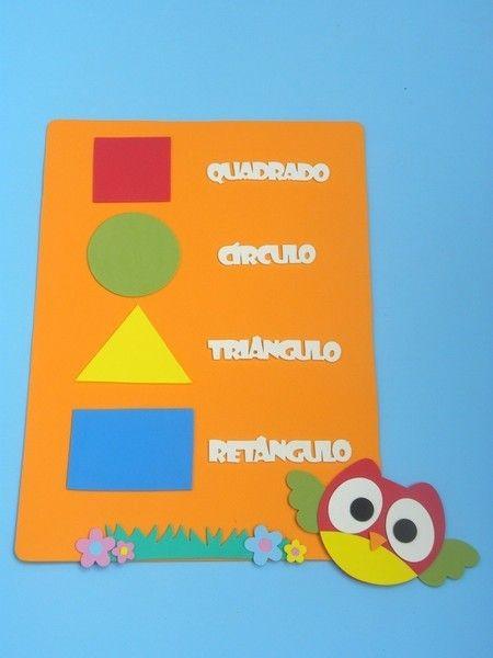 formas geométricas para educação infantil Corujas www.petilola.com.br