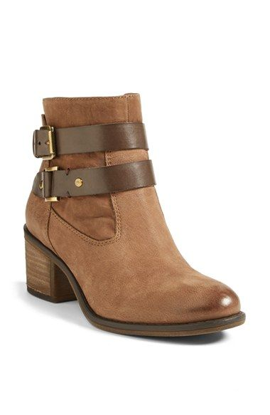 Franco Sarto 'Linden' Leather Bootie (Women), A blocky, stacked heel and  easy almond toe give the belted Linden bootie a season-spanning silhouette  that's ...