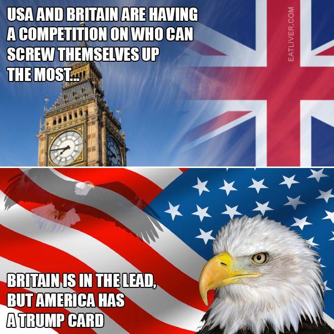 Britain vs. USA: The Self-Destruction Competition