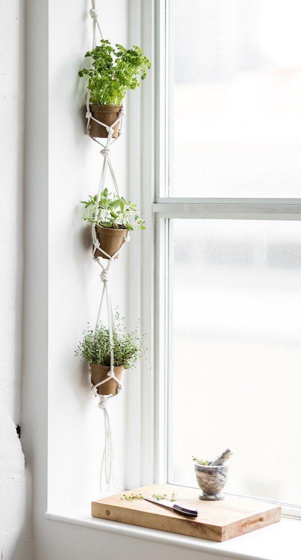 17 Hängende Kräutergartenideen für kleine Räume! – Brandi Raae