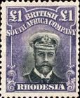 British South Africa Company, 1.9.1913, King George V., No.142a, 1L violet/black. Stamped 658 USD. Unused 548 USD.