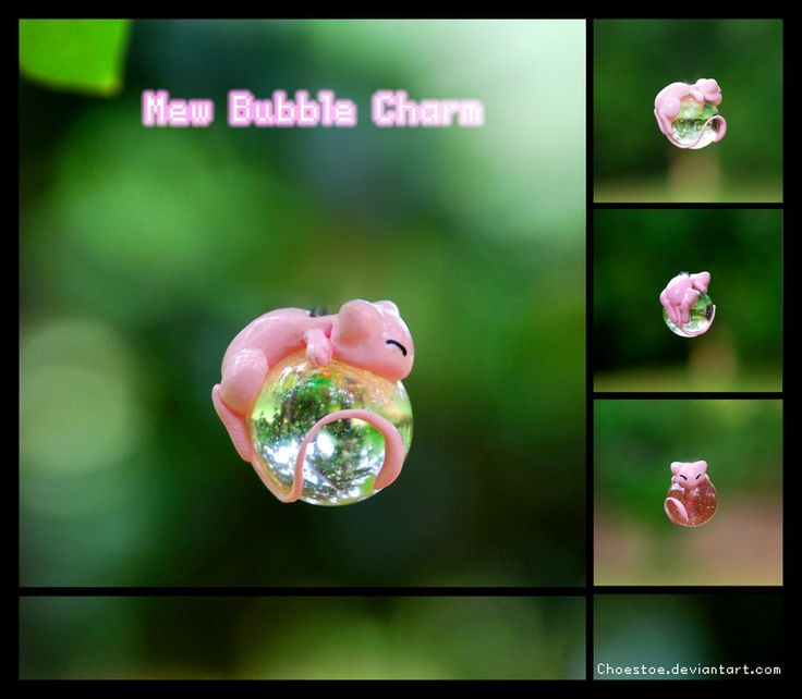 Mew Bubble Charm by Choestoe on deviantART