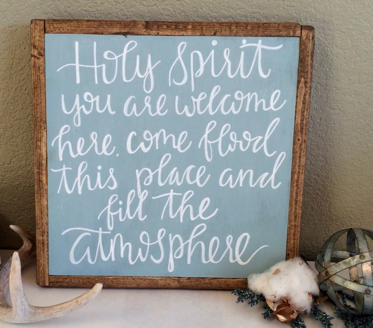 """holy spirit you are welcome here"" Lyrics sign, Holy spirit sign, wood lyrics sign, favorite lyrics signs, home decor, holy spirit, biblical signs"
