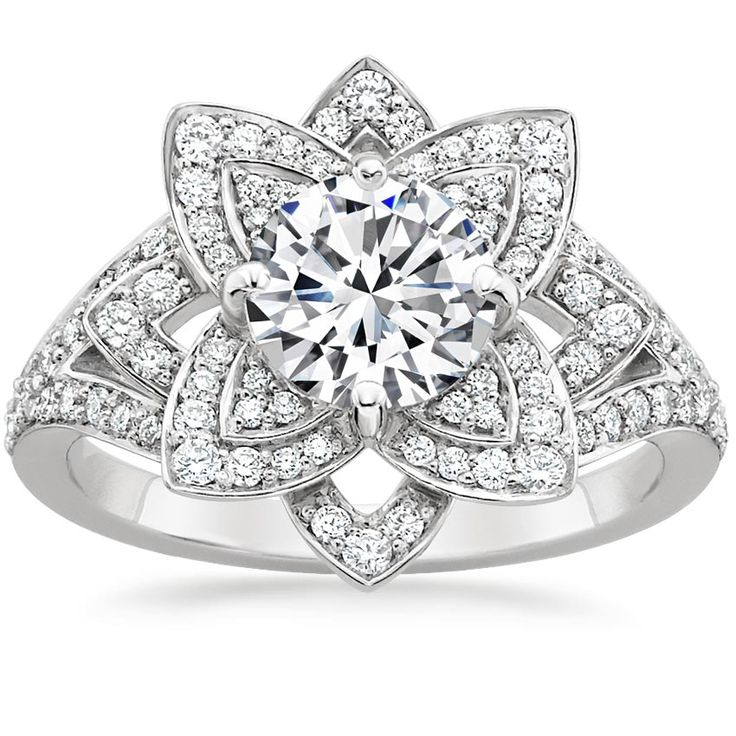 18K White Gold Lily Diamond Ring (1/2 ct. tw.) from Brilliant Earth