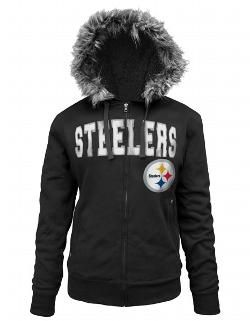 Pittsburgh Steelers Women's Full Zip Sherpa Black Fleece - Official Online Store