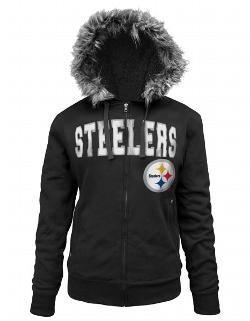 Pittsburgh Steelers Women's Full Zip Sherpa Black Fleece - Official Online Store