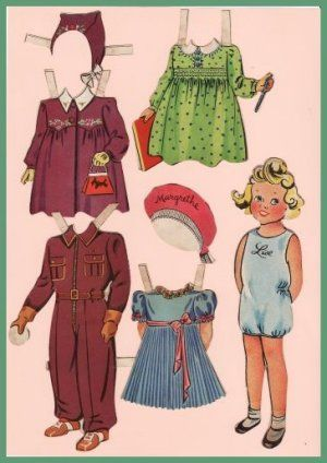 Danish paper doll Princess Margrethe of Denmark / molzen.dk