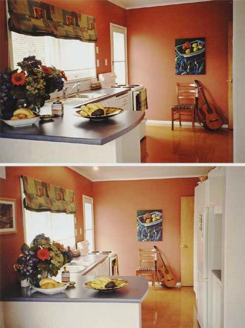 Warm, vibrant kitchen in Resene Prairie Sand.