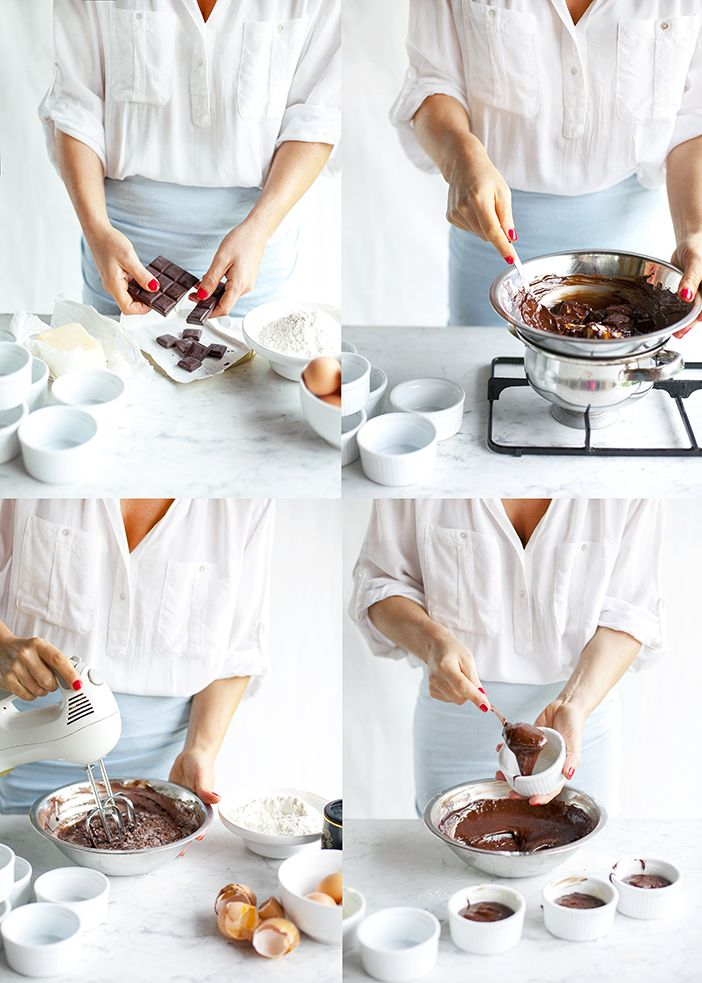 Chocolate souffle in 4 easy steps