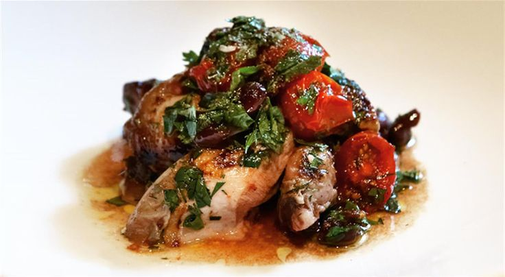 Warm Salad of Wood-Fire Grilled Quail with Semi-Dried Cherry Tomato