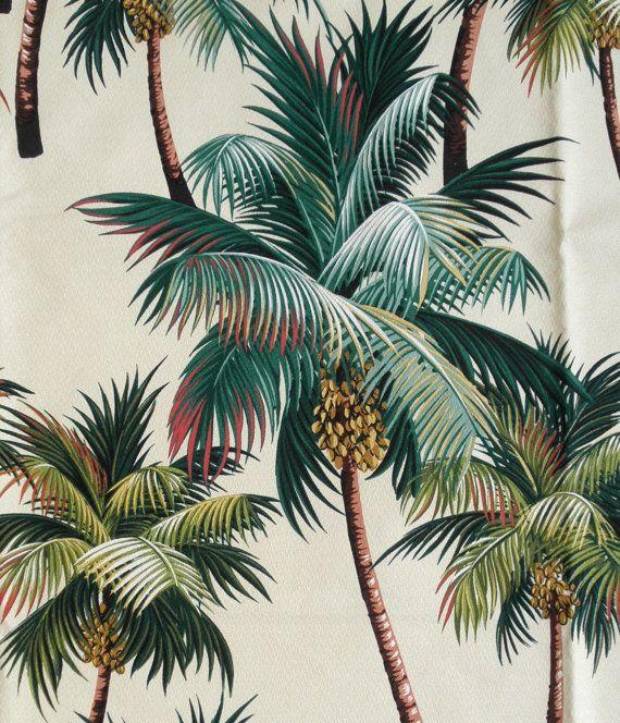 Palm Tree Fabric Tropical Upholstery Home Decor Sofa By Gbaghawaii