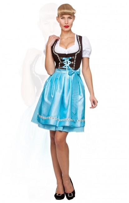 German mini dirndl 2pcs. Judy turquoise 50 cm oktoberfest dirndl