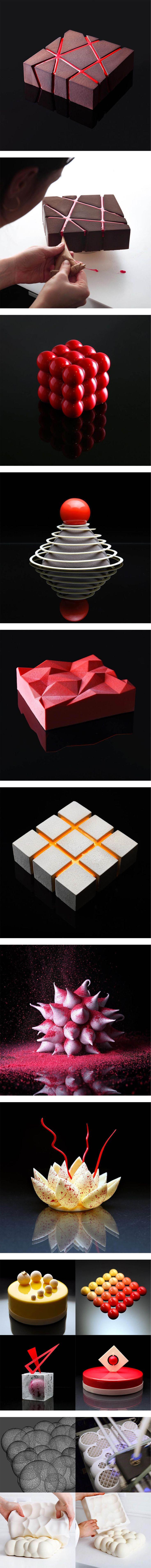 Unusual Geometric Cake Designs by Dinara Kasko