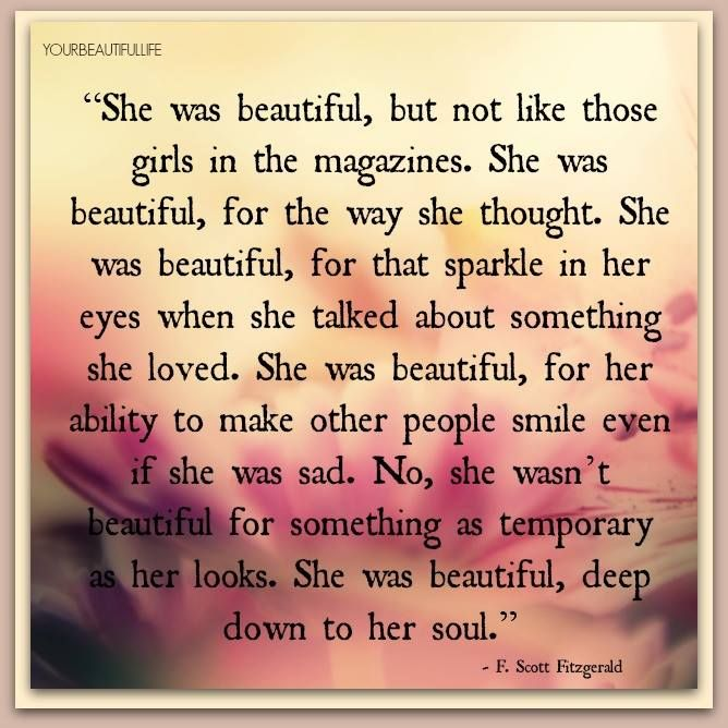 She Was Beautiful F Scott Fitzgerald Book Love Word Strength