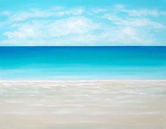 Beach Painting Ocean Painting Modern Beach by ChrisMaestriGallery. , via Etsy.