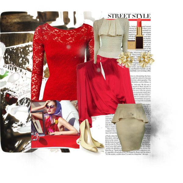 """""""Hot Red Vintage"""" by auburnroguefashion on Polyvore"""