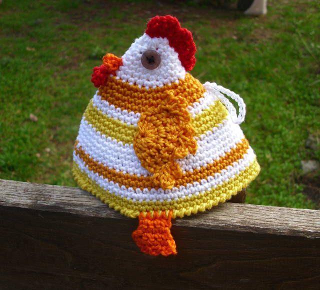 Tutorial in Italiano: Come fare presina a uncinetto a forma di gallo.