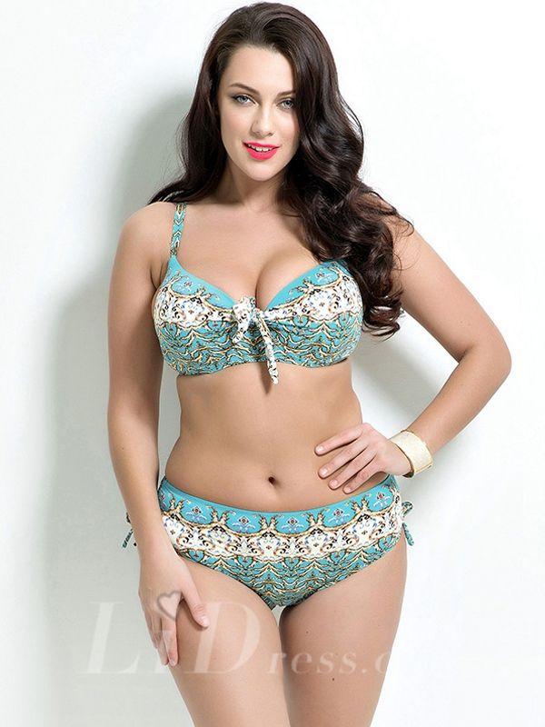 High Waist Print Plus Size Bikini Lidyy1605201018