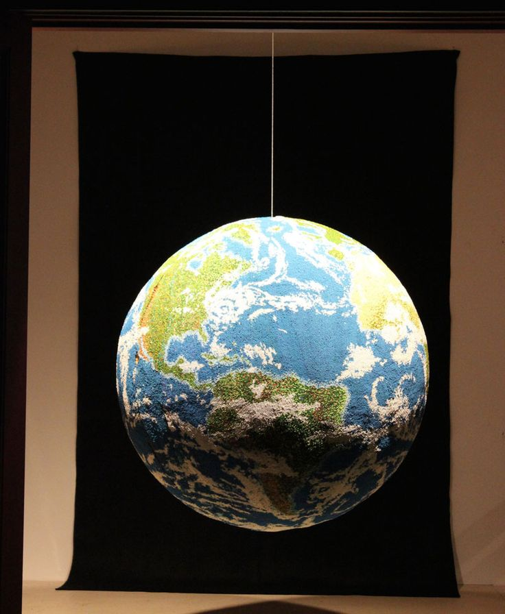 Giant World Globe Made Entirely of Match Sticks