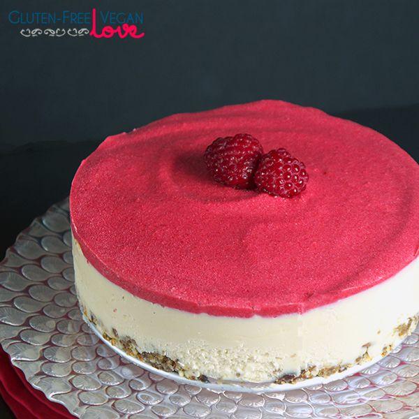 Raw Vegan White Chocolate and Raspberry Cheesecake {Gluten-Free+Paleo}