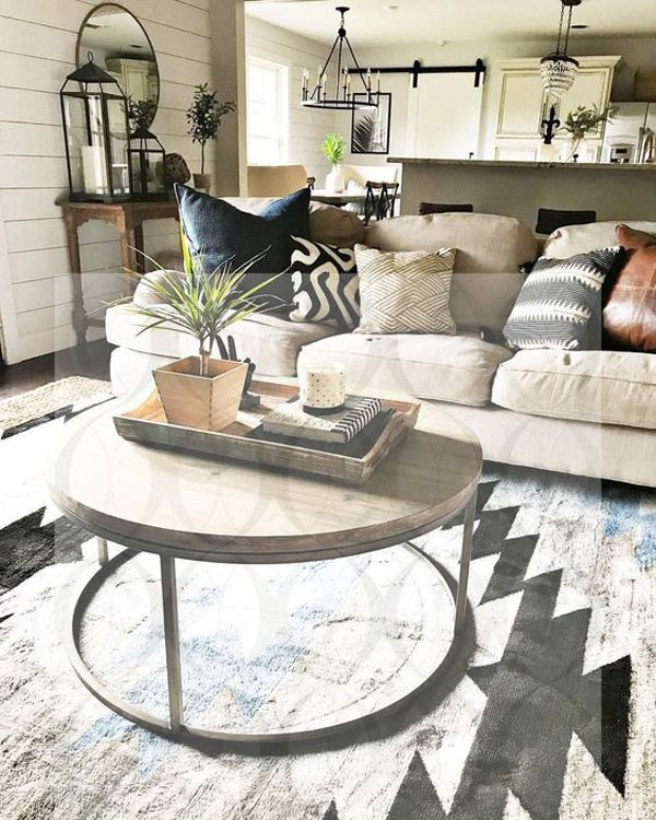50 Best Round Coffee Table With Scandinavian Style Living Room Decor Neutral Farm House Living Room Rustic Living Room