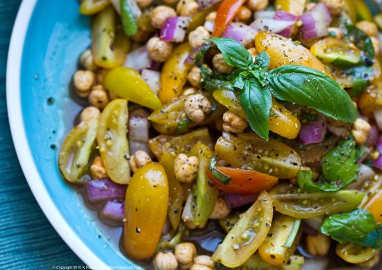 Салат из фасоли консервированной простой
