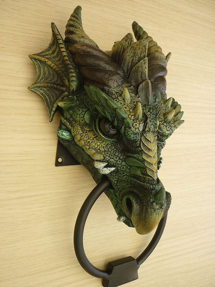 20 best ave f nix images on pinterest phoenix bird fantasy creatures and fire - Dragon door knockers ...