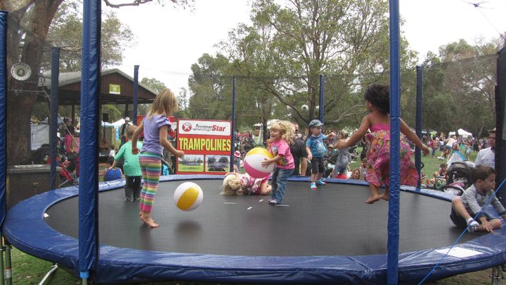 Jump Star 16ft Trampoline at Playgroup WA fun day 2013