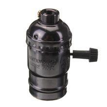 Heißer Verkauf E27 Vintage Lampensockel Halter Anhänger Lampe DIY Licht Schraube Sockel 4 Farben Schalter/Kein Schalter 110 V/220 V(China (Mainland))