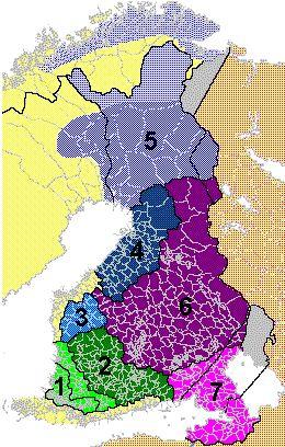 Suomen murrealueiden kartta