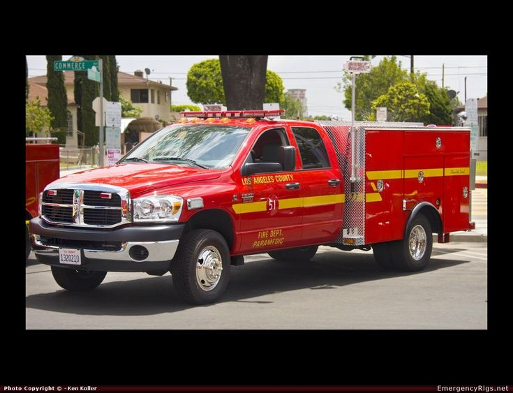 DodgeRescueLos Angeles County Fire Department Emergency Apparatus Fire Truck Photo