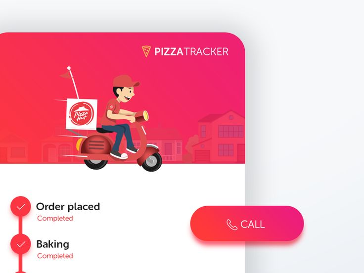 Pizza Tracker - UI Movement
