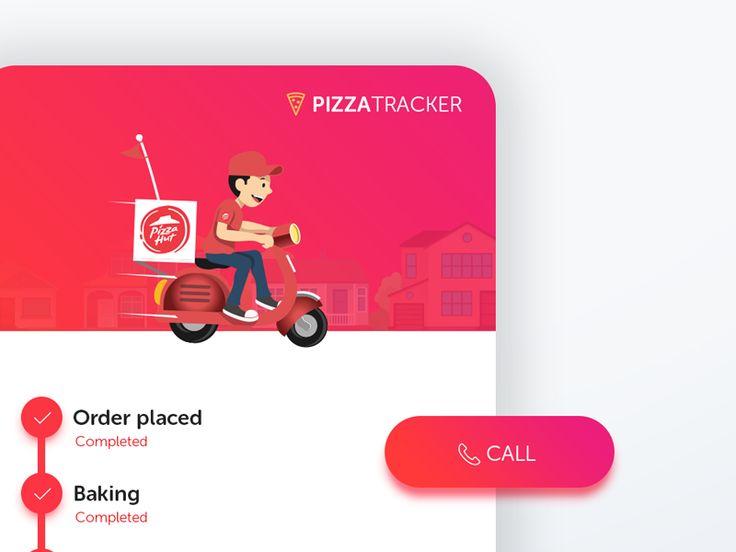 Pizza Tracker - UI Movement