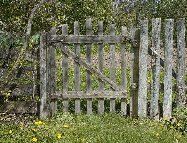 old style garden gate and fencelove
