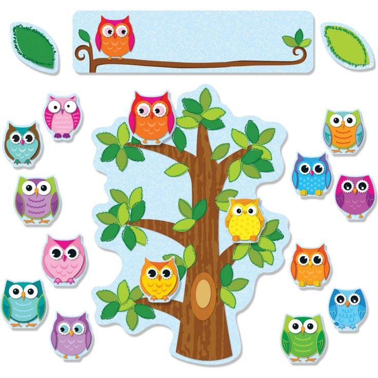 Carson-Dellosa Colorful Owls Behavior; Bulletin Board Set | Quill.com