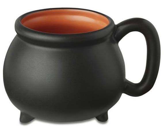 When your morning witches' brew is piping hot and properly sweetened, pour it into a Cauldron Mug in celebration of the Halloween season. Made of durable s
