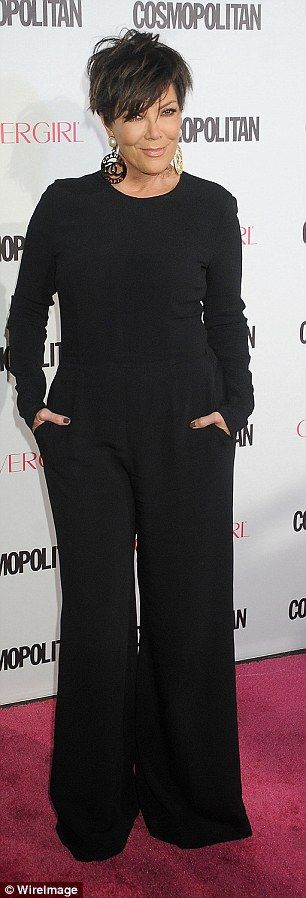 Chic: She wore her hands in her pockets with a messed up hairstyle...