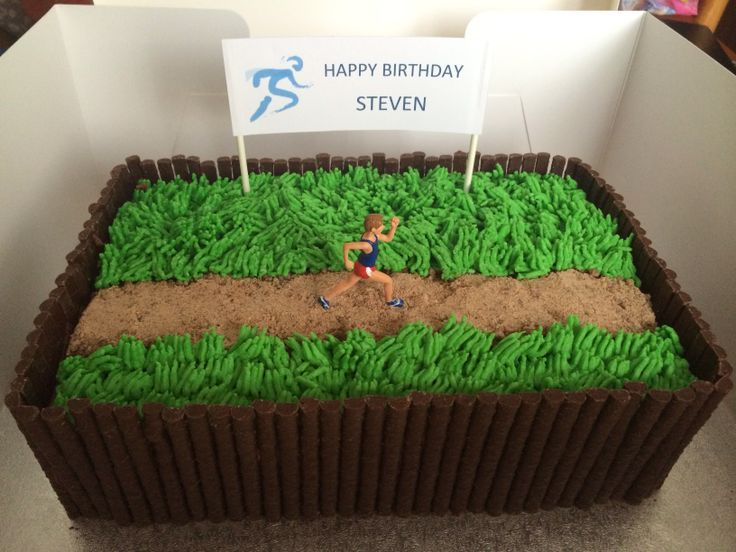 Runner/Running Jogger/Jogging Birthday Cake   Food   Pinterest ...