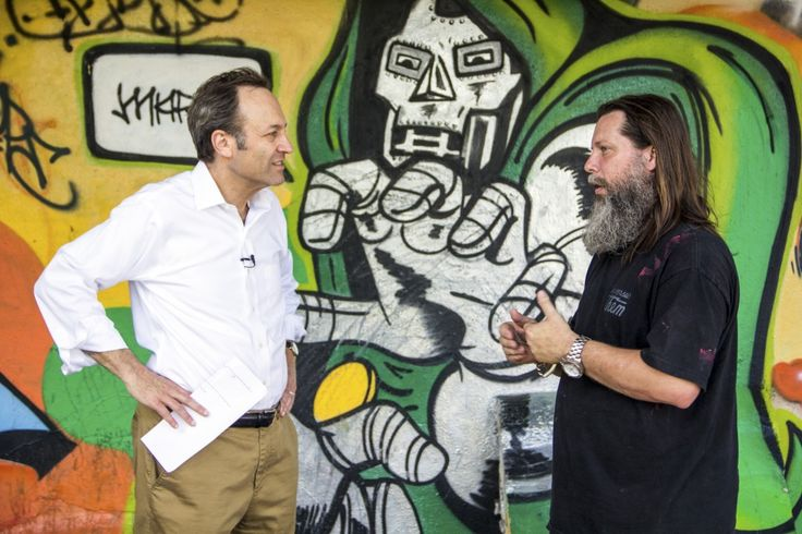 From painting overpasses to stadiums, a graffiti artist on his evolving art form | Art Beat | PBS NewsHour