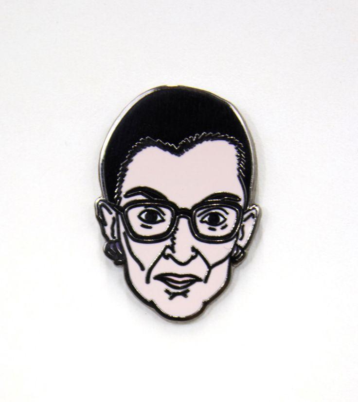 Ruth Bader Ginsburg Pin by StaticTVco on Etsy https://www.etsy.com/listing/238430330/ruth-bader-ginsburg-pin