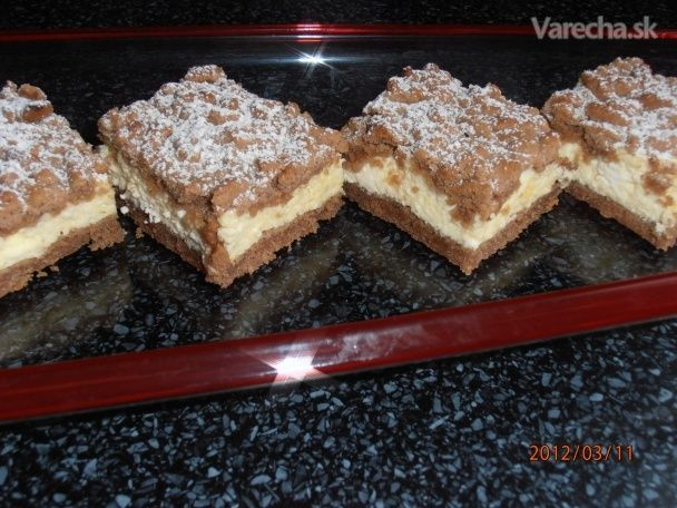 Strúhaný tvarohový koláč (fotorecept)